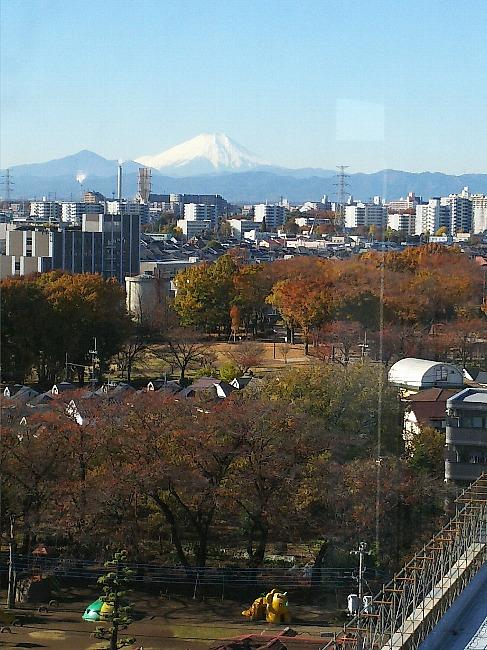 ラスト富士の朝の光景