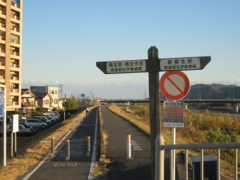 渡良瀬川サイクリングロード起終点、錦桜橋