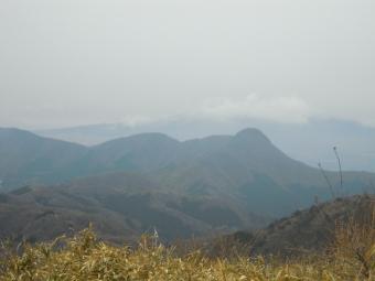 明星が岳山頂から金時山方面171208