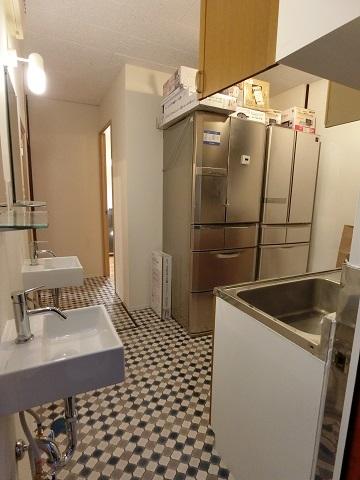 目白台シェアハウスキッチン洗面台