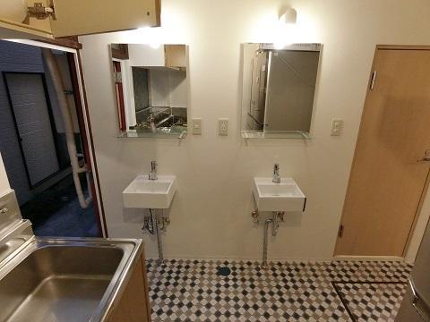 目白台シェアハウス洗面台