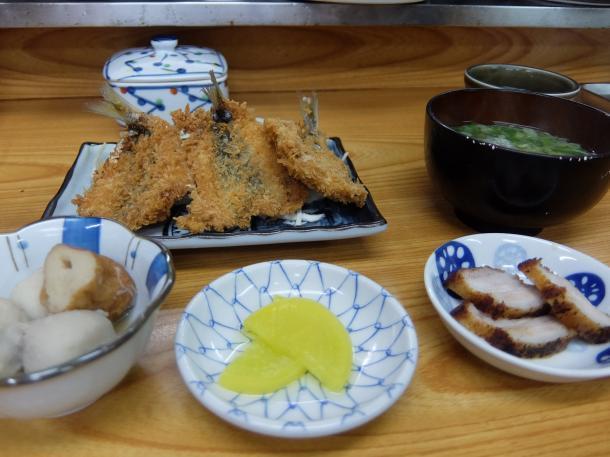 鰺フライ定食