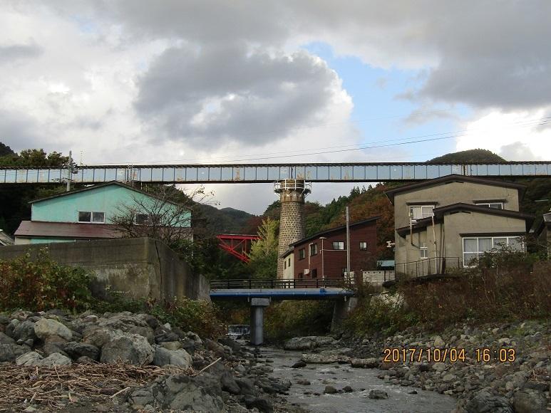 子入川鉄橋、海側から