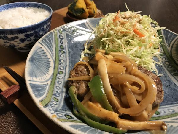 Sep21_野菜のせハンバーグ
