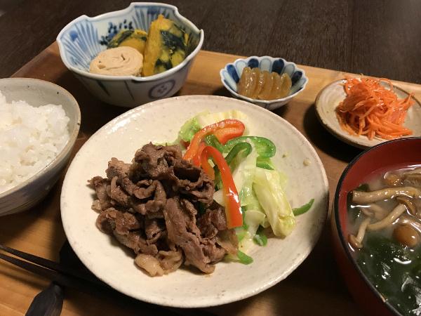 Oct03_焼き肉と野菜炒め