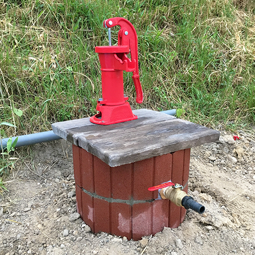 DIYで打ち抜き井戸を掘る!⑥ ~完成!可愛い井戸~③