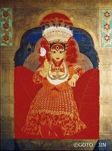 「クマリ -The Living Goddess-(ネパール)」F50号