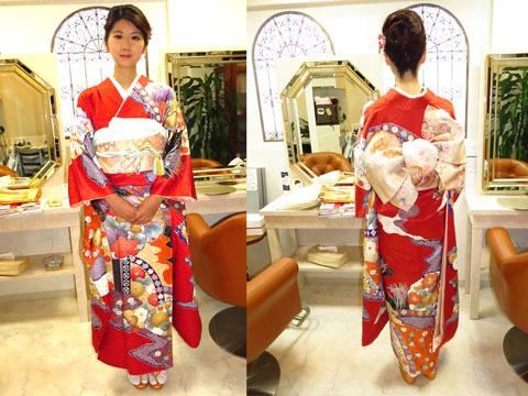 東京で お正月,元旦,初詣や新年のご挨拶に早朝から着物を着てお出かけの 方、ヘアメイク着付けの出来る美容院をお探しですか