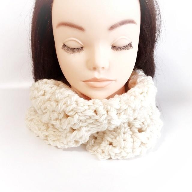 手編み雑貨 HanahanD 冬小物 マフラースヌード 首回り