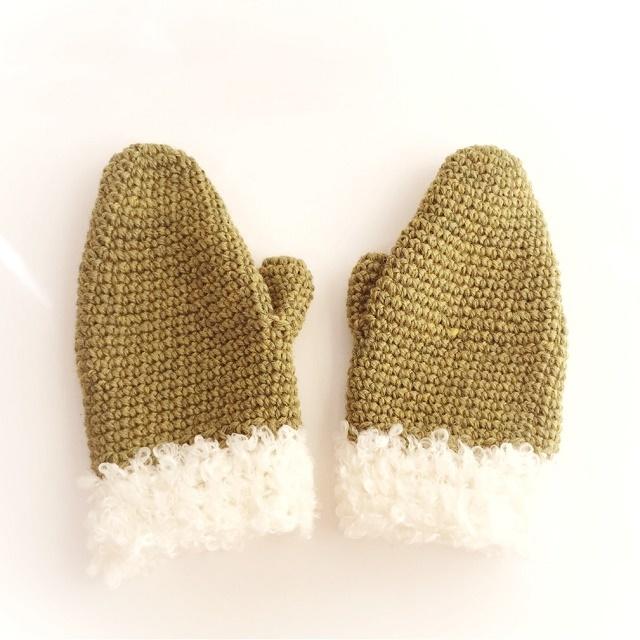 手編み雑貨 HanahanD 秋冬ミトン 手袋