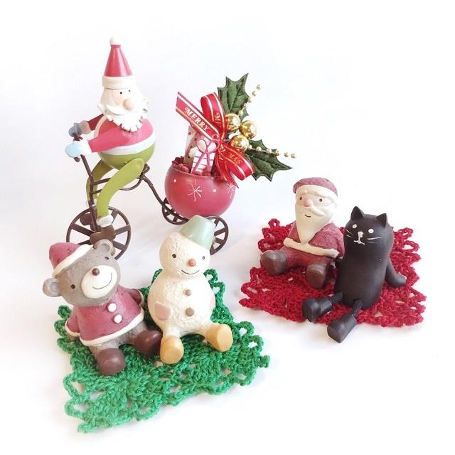 手編み雑貨 HanahanD クリスマスの飾り付けに レースのモチーフ繋ぎのドイリー