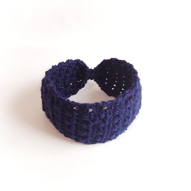 手編み雑貨 HanahanD 手編みヘアバンド ウールターバン