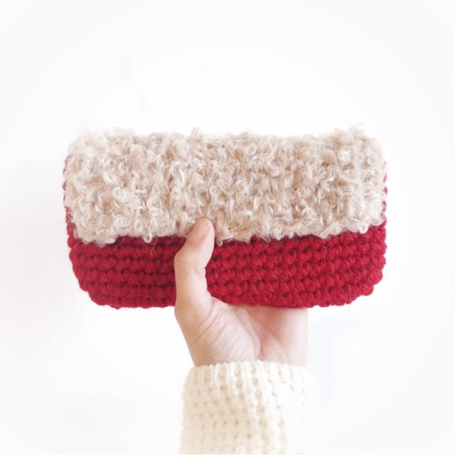 手編み雑貨 HanahanD 冬のスマホケース、スマホポーチ、iPhone
