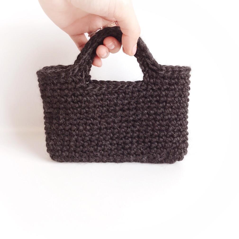 手編み雑貨 HanahanD ハンドメイド スマホバッグ iPhoneバッグ ケース