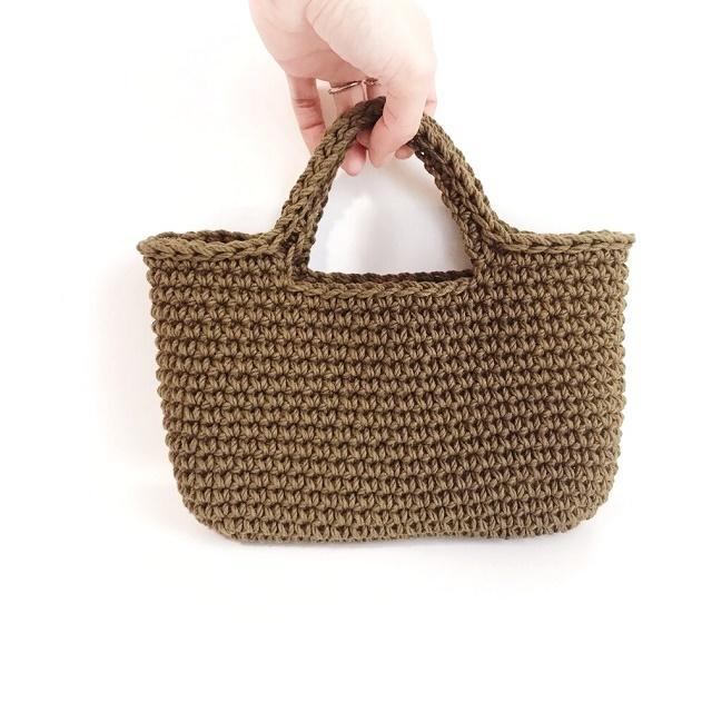 手編み雑貨 HanahanD コットンお散歩マルシェバッグ