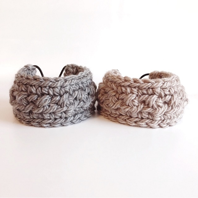 手編み雑貨 HanahanD ウール毛糸のヘアバンド、ヘアーバンド