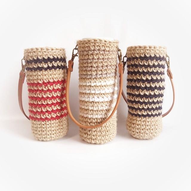 手編み雑貨 HanahanD ボトルケース ペットボトル、マグボトル