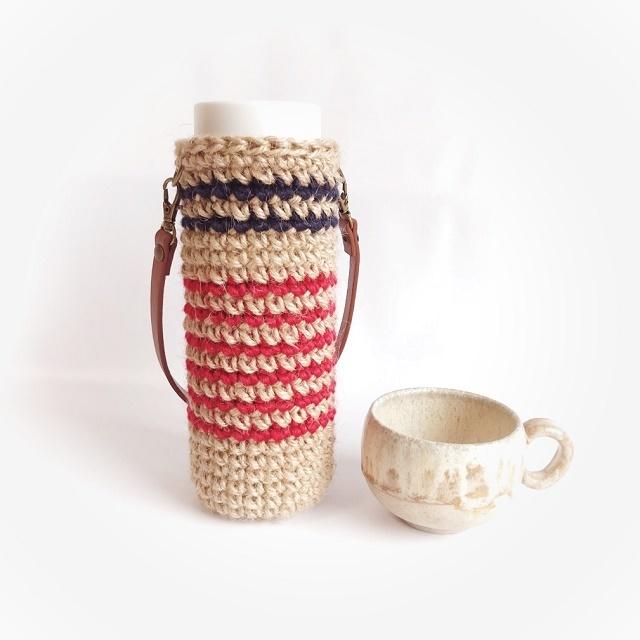 手編み雑貨 HanahanD 水筒 ペットボトル ケース カバー