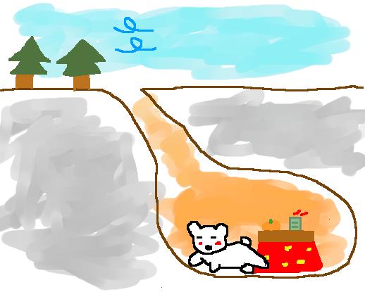 冬は完全冬眠モード