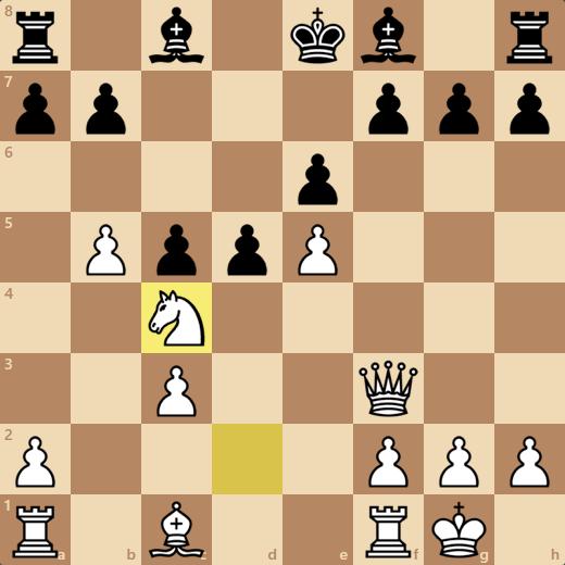 9/27のゲーム1戦目。13手で勝ち。消費時間3分24秒