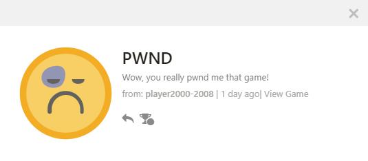 PWNDとは「コテンパンにされた」って意味らしいよ