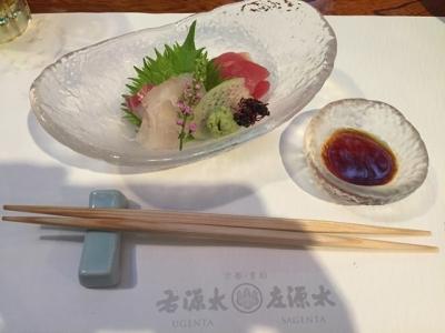 170620貴船右源太川床料理刺身