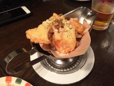 170711yaesu海老バル白身魚とポップコーンシュリンプのチーズフリット580円