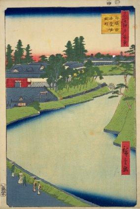 外桜田弁慶堀糀町(広重)