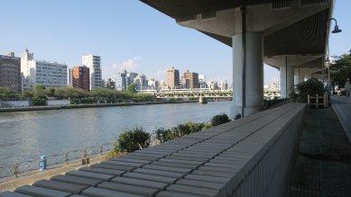 東武鉄道伊勢崎線隅田川橋梁・花川戸鉄道橋(望遠)