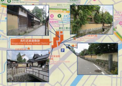 長町武家屋敷跡・マップ