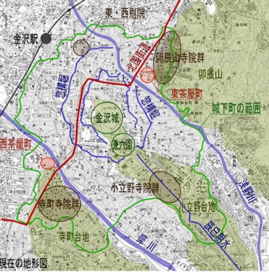 金沢・城下町の構造