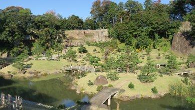 色紙短冊積石垣at玉泉院丸庭園
