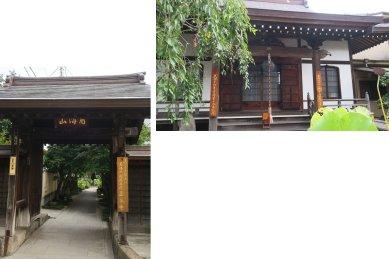 正泉寺・山門と本堂
