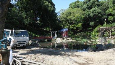 須藤公園再整備工事中
