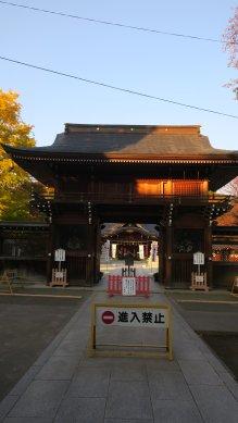 立川諏訪神社神門