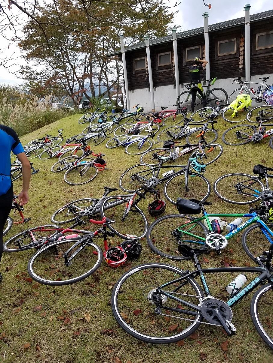 自転車雑魚寝