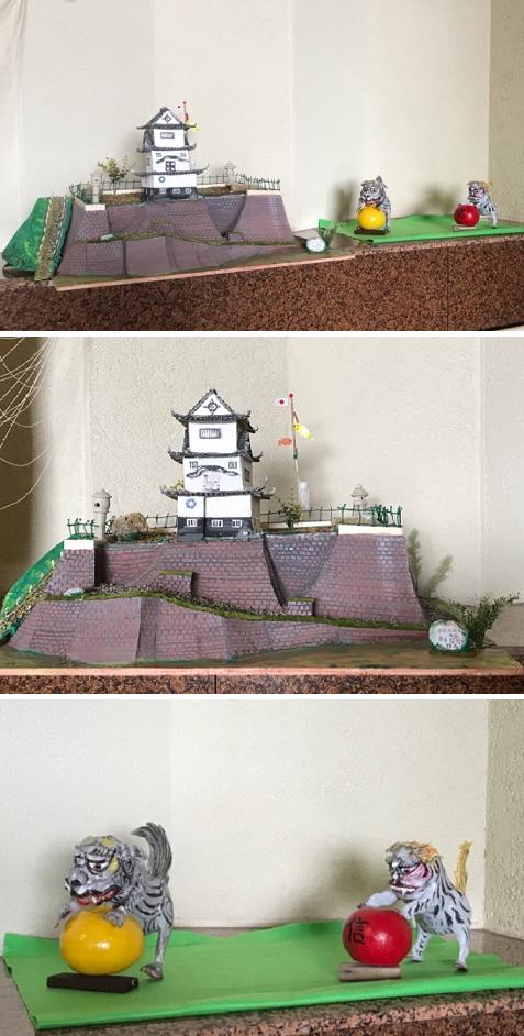 20171106お城と狛犬