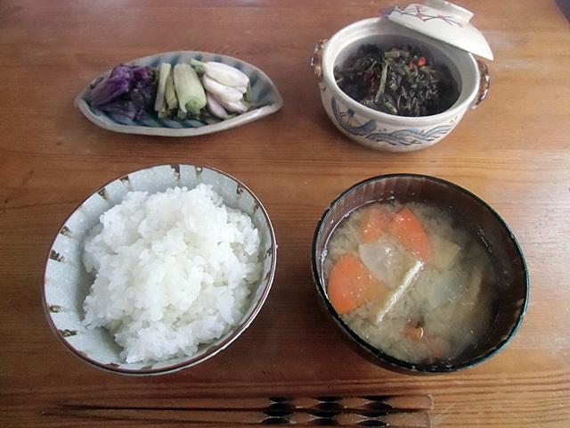 野菜尽くしの朝ご飯