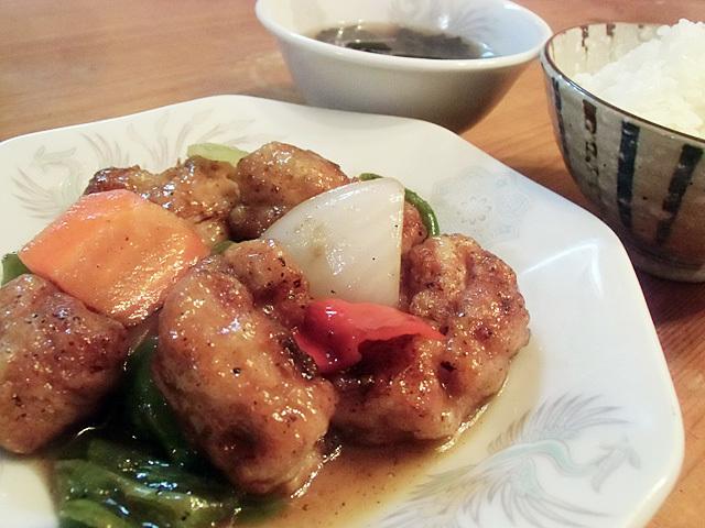 大豆肉の酢豚風