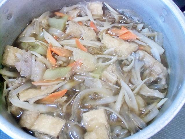 野菜たっぷり醤油味