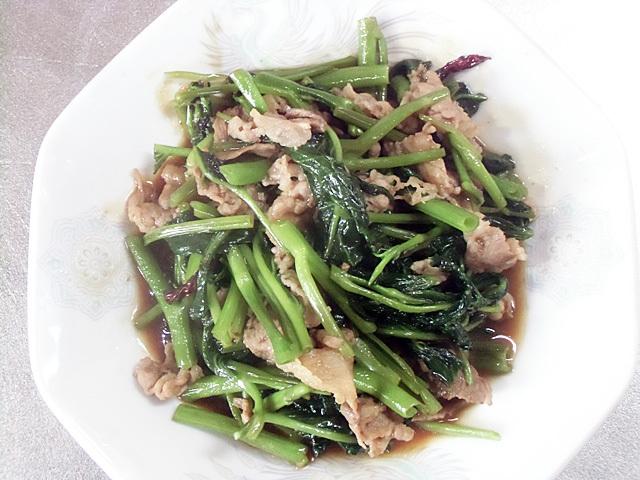 空芯菜の肉炒め