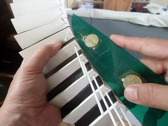 階段のカーブを測る