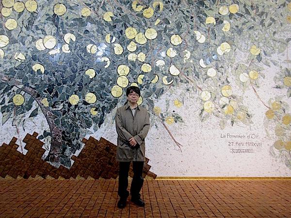 田窪恭治さんの壁画(聖心女子大学) - ひつじcafe(子ども・ART・文化)