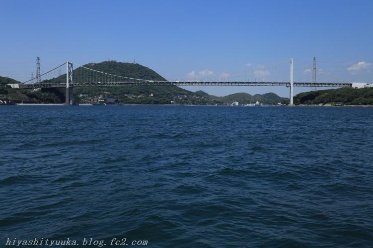 海上から関門橋-SN