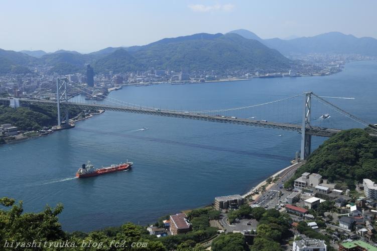 火の山から関門橋-SN