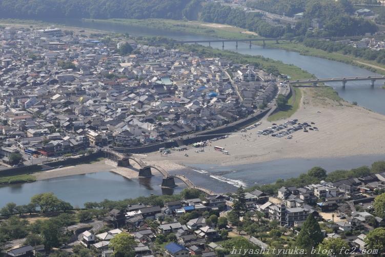 岩国城から錦帯橋-SN