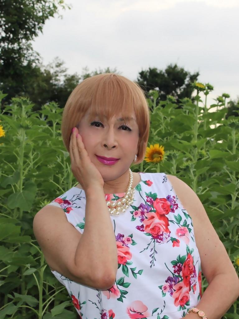 白地に花柄のワンピG(7)