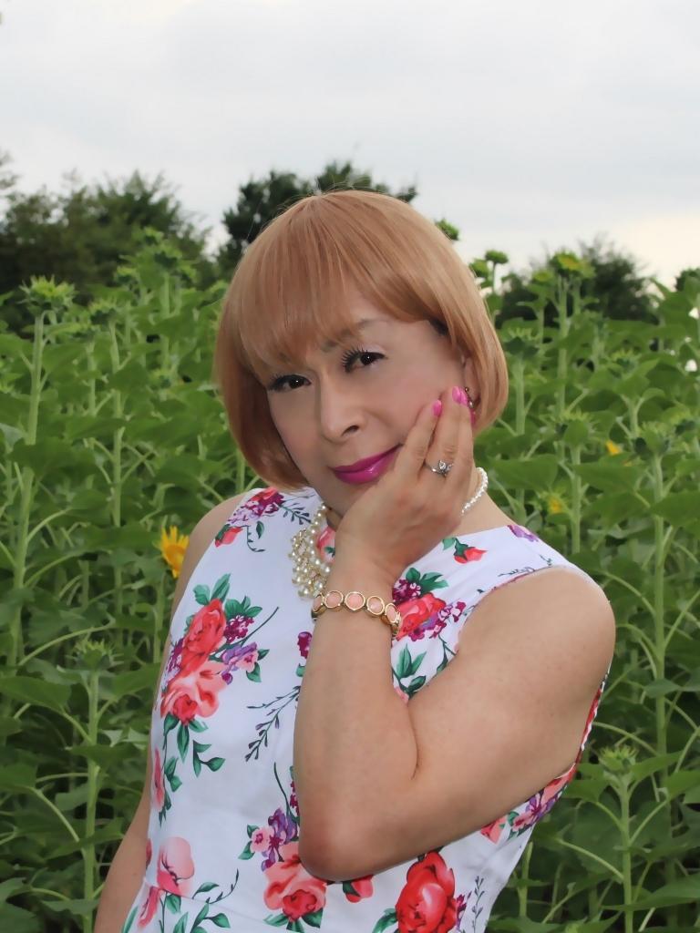 白地に花柄のワンピG(8)