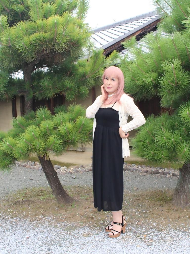 黒のマキシワンピA(9)