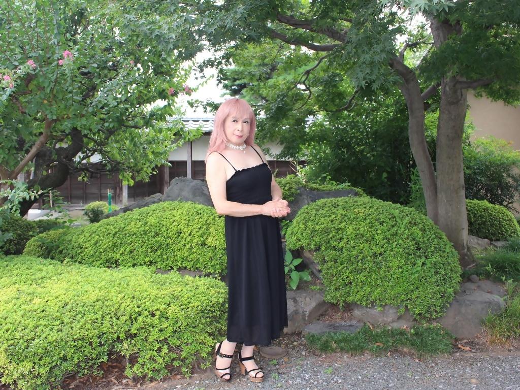 黒のマキシワンピB(5)
